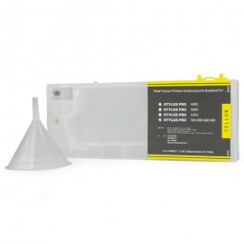 Yellow Refillable Cartridge for Epson 7600 9600 4000