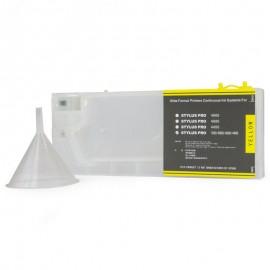 Yellow Refillable Cartridge for Epson 7600 9600 4000